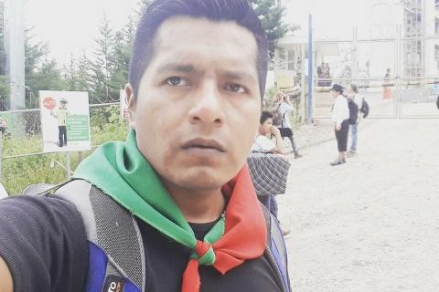 Eduin Mauricio Capaz Lectamo líder indígena