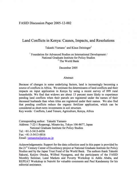 Land Conflicts in Kenya: Causes, Impacts, and Resolutions cover image