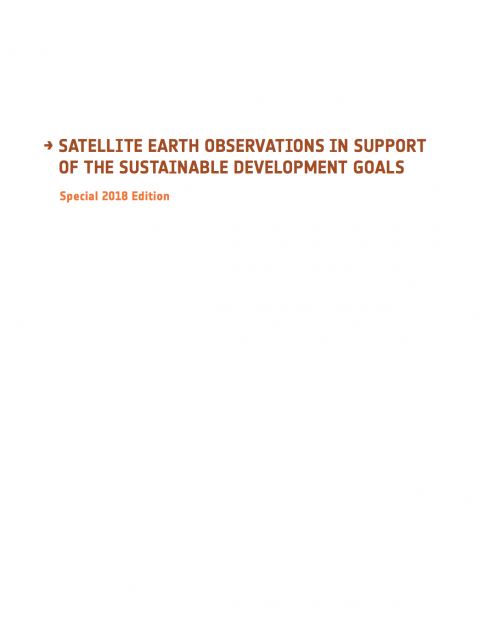 Satellite Earth Observations in Support Of The Sustainable Development Goals cover image