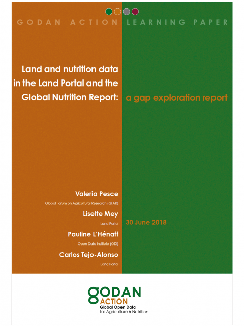 Land and nutrition data in the Land Portal and the Global Nutrition Report: a gap exploration report cover image