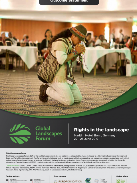 Global Landscapes Forum Bonn 2019: Outcome Statement cover image