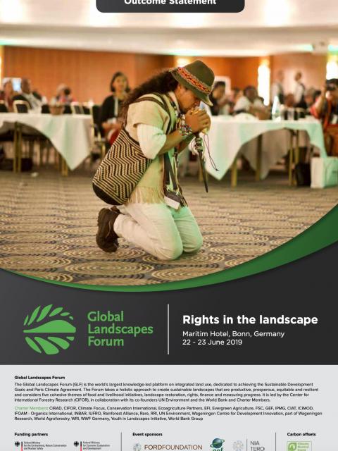 Global Landscapes Forum Bonn 2019: Outcome Statement cover image