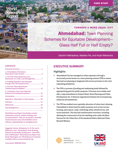Ahmedabad: Town Planning Schemes for Equitable Development — Glass Half Full or Half Empty? cover image